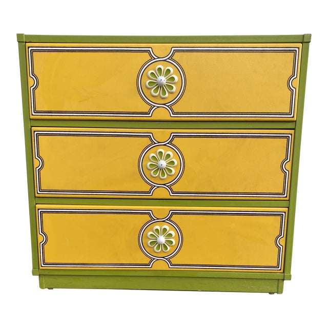 Mid 20th Century Drexel Peter Max Inspired Small Dresser For Sale