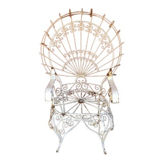 1950's French or Victorian Twisted Wire Peacock Chair