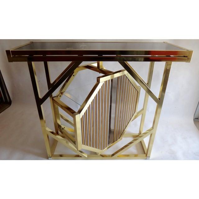 Brass Pivoting Octagon Display Bar - Image 6 of 11