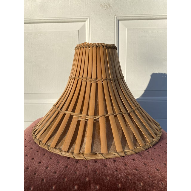 Mid 20th Century Mid 20th Century Rattan Tiki Lamp Shade For Sale - Image 5 of 6