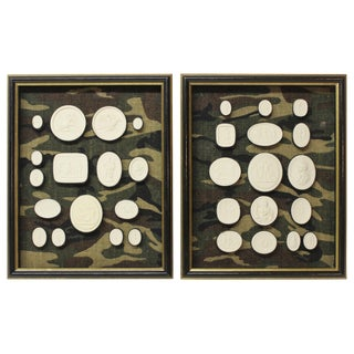Pair of Framed Antique Intaglios For Sale