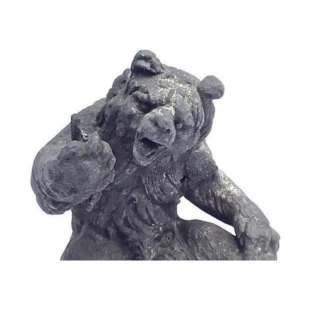 Antique Cast Iron Bear Figurine For Sale - Image 5 of 7