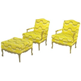 Image of Louis XV Chair and Ottoman Sets