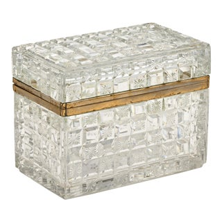Jewelry Box, Cut Crystal For Sale