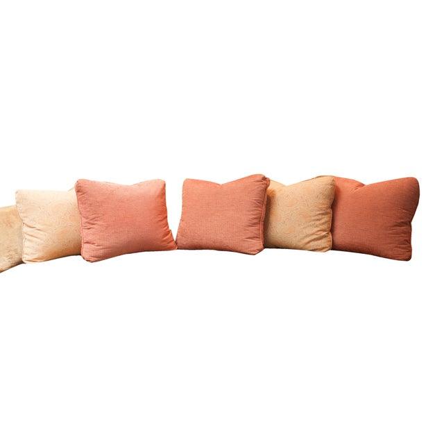 Designer Fabric Orange & Coral Pillows - Set of 5 - Image 1 of 4