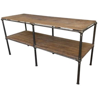 French Industrial Console For Sale