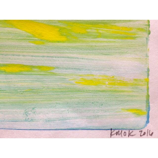 """Purple Night"" Handmade Ocean Print, 2016 - Image 3 of 4"