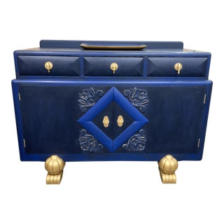 Art Deco Style Blue Buffet/Credenza For Sale