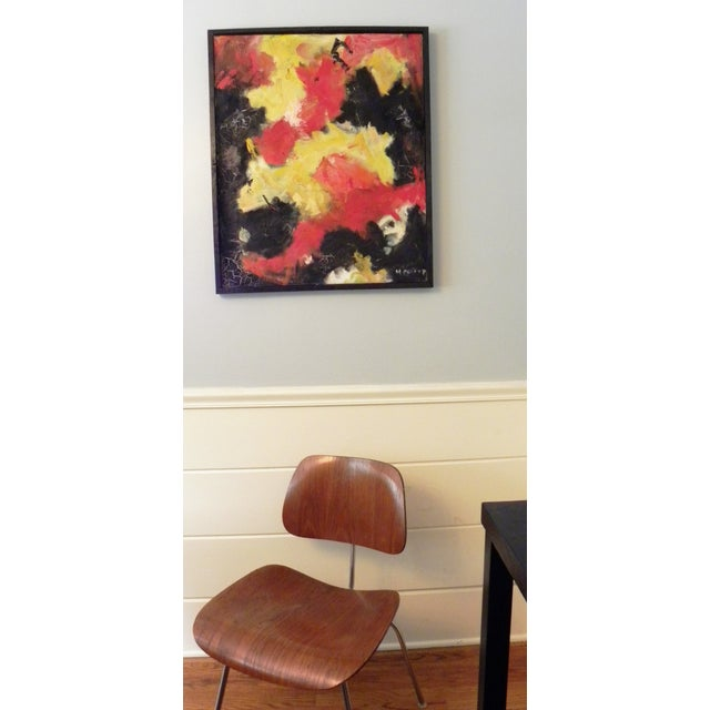 Mid-Century Modern Vibrant Abstract Painting - Image 3 of 6