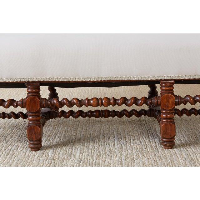 Brown 19th Century English Barley Twist Sofa Settee For Sale - Image 8 of 13