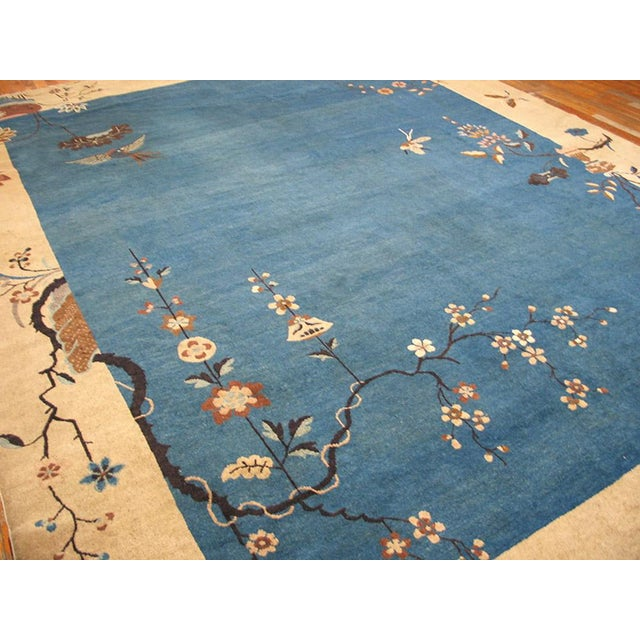 "1920s Chinese Art Deco Rug - 9'x11'10"" For Sale In New York - Image 6 of 9"
