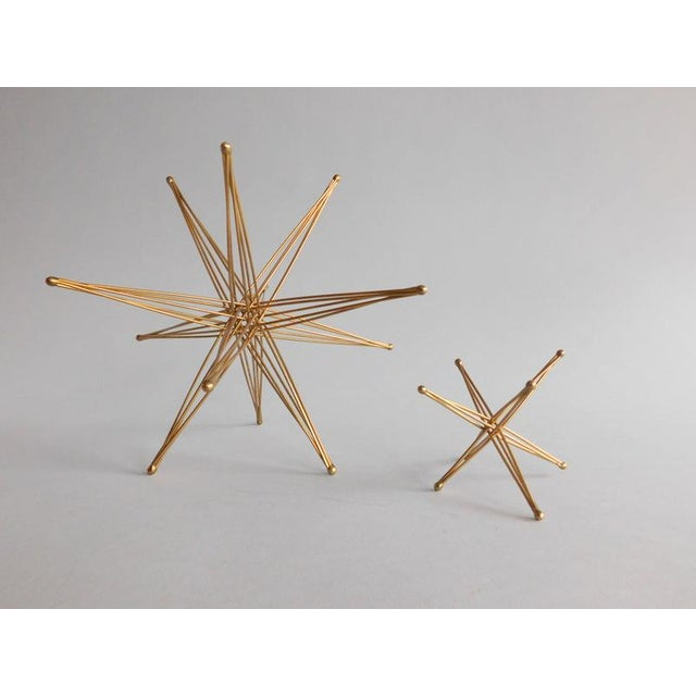 Vintage Pair of John Kostick Ko Sticks Bronze Wire Folding Stars. Pair of vintage geometric and synergistic folding stars...