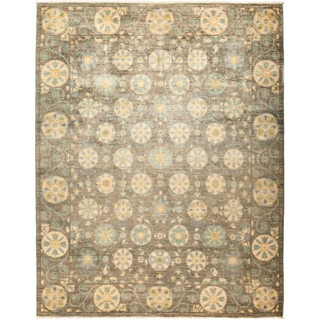 """Suzani Hand-Knotted Area Rug 8' 1"""" x 10' 4"""" For Sale - Image 4 of 4"""