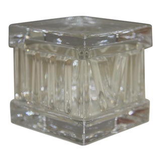 Tiffany & Co. Crystal Box With Lid in the Atlas Pattern For Sale