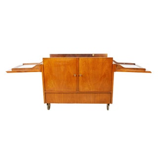Large Walnut Bar Cart on Casters Preview