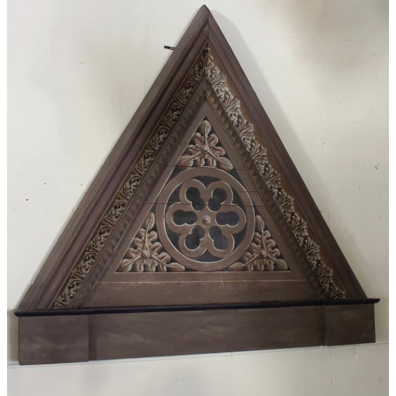 Pair of Triangular Italian Architectural Elements For Sale - Image 4 of 5