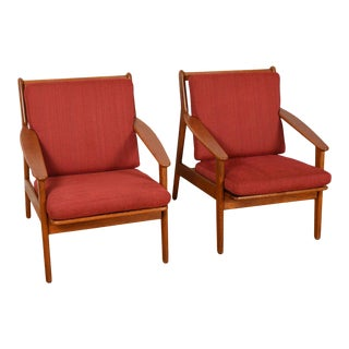 Pair Danish Modern Easy Chairs by Fdb For Sale