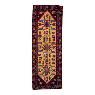 20th Century Vintage Multicolored Turkish Runner Rug For Sale