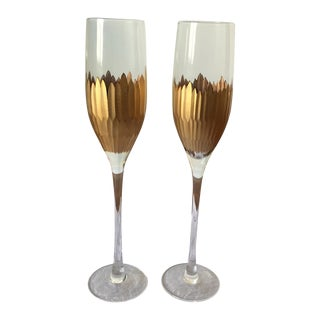 Marchesa by Lenox Champagne Flutes - A Pair