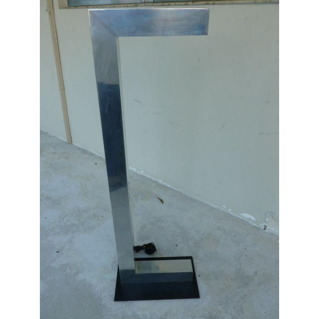Really Great Quality Sonneman or Kovacs 70's Architectural Chromed Aluminum c Shaped Floor Lamp being sold as found...