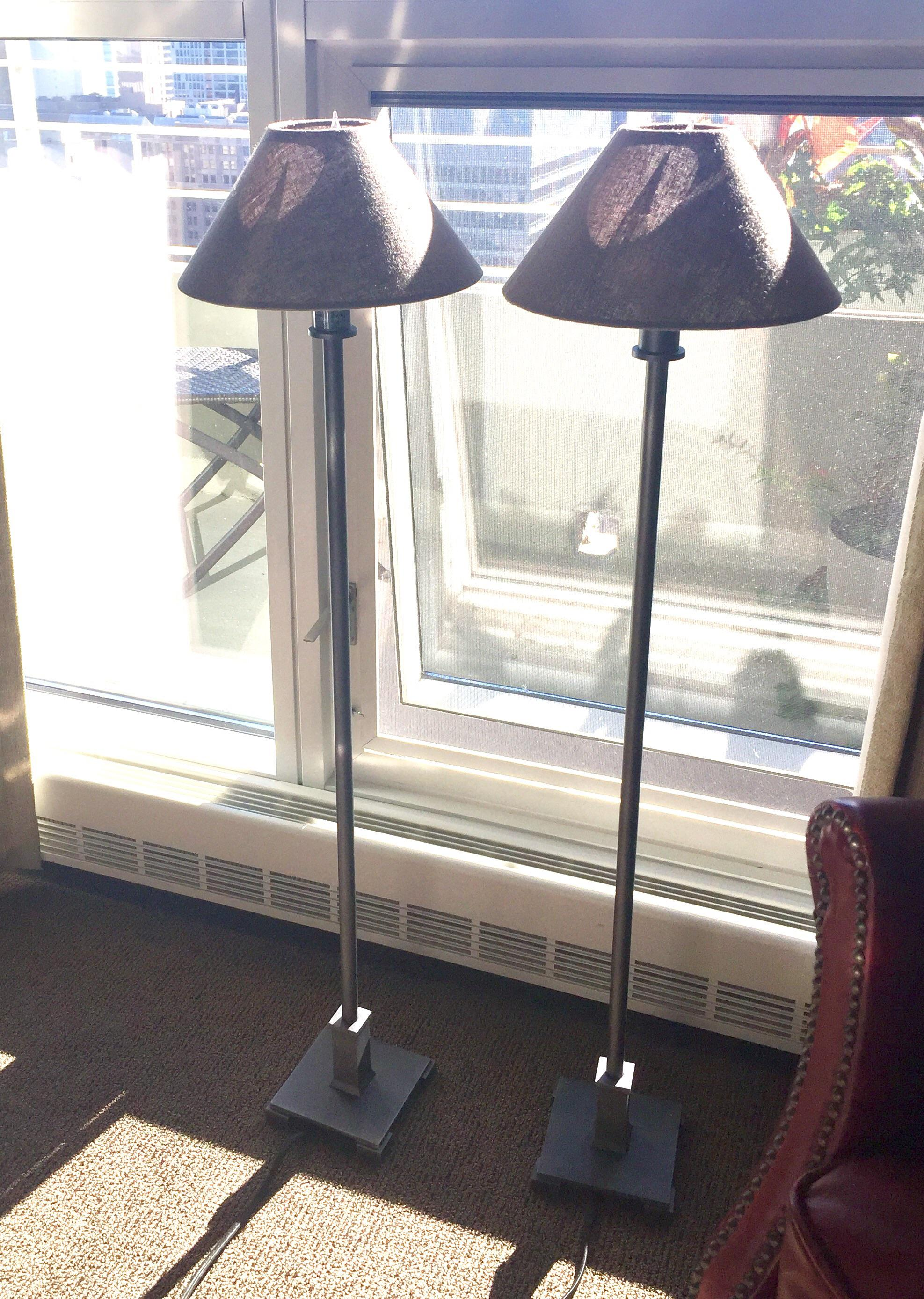 Restoration Hardware Petite Candlestick Buffet Lamps   A Pair   Image 2 Of 5