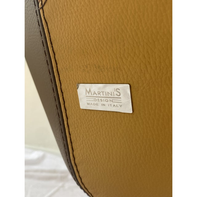 Mauro Martini 1970s Italian Leather Lounge Chair For Sale - Image 4 of 6