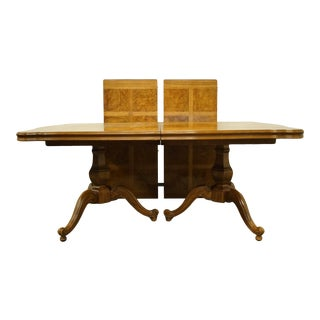 """Thomasville Furniture Camille Collection Country French Double Pedestal 110"""" Dining Table For Sale"""