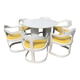 1970s Space Age Broyhill Chapter One Dining Set - 7 Pieces For Sale