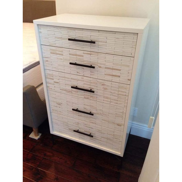 Contemporary White Oak Five Drawer Dresser - Image 4 of 6