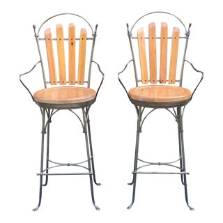 Charleston Forge Swivel Barstools - a Pair For Sale