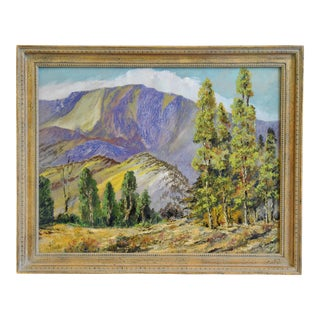 1946 Joe Sawhill, Mountain Landscape Oil Painting