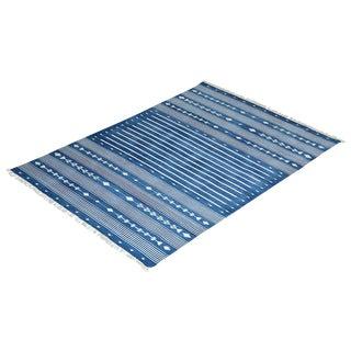 Aspen Rug, 5x8, Blue & White For Sale