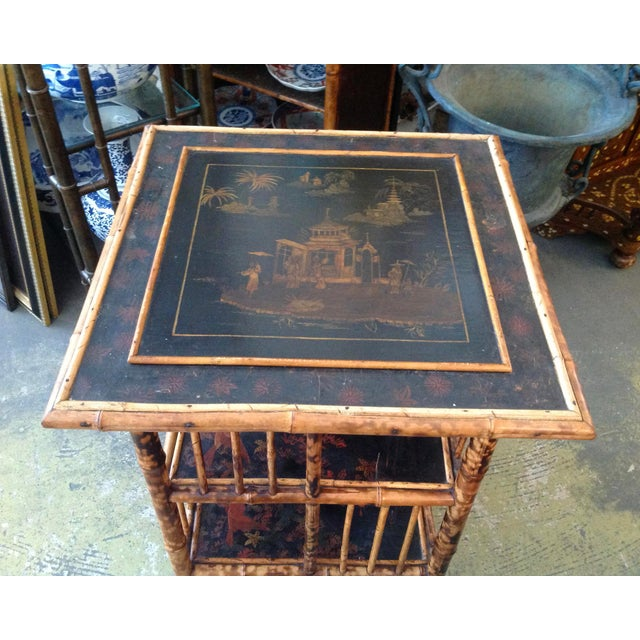 Chinoiserie Bamboo Revolving Bookcase For Sale In West Palm - Image 6 of 13