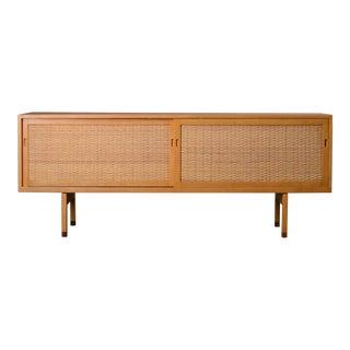 1960s Vintage Hans Wegner Oak Sideboard Credenza For Sale