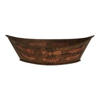 Woven Copper Cachepot