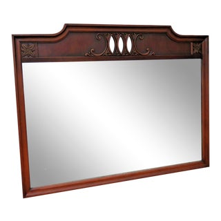 Mahogany Large Wall Bathroom Vanity Mirror For Sale