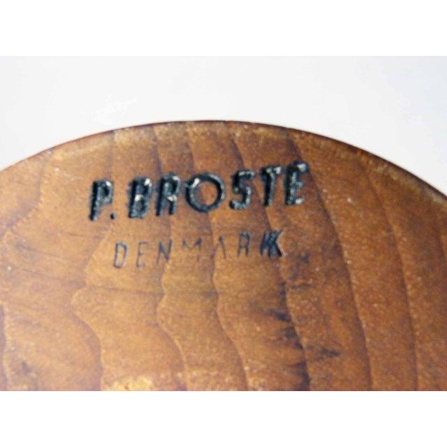 P. Broste Danish Teak Cone Table Lamps - Pair - Image 5 of 6