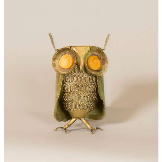 Mid-Century Modern Curtis Jere Inspired Owl Sculpture For Sale - Image 3 of 7