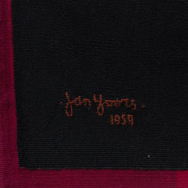 Jan Yoors Jan Yoors one of kind, hand woven tapestry, 1959 For Sale - Image 4 of 4