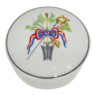 French Bicentennial Themed Lidded Porcelain Dish For Sale