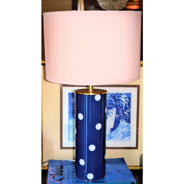 Kate Spade Blue Dot Table Lamp - Image 2 of 6