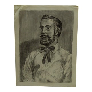 "1959 Mid-Century Modern Original Drawing on Paper, ""Bearded Daddy"" by Tom Sturges Jr"