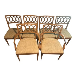 Mid-Century Modern Drexel Dining Chairs - Set of 6 For Sale