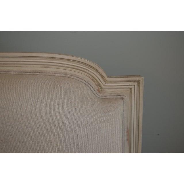 Louis XVI Louis XVI Style Painted Sofa Upholstered in Belgium Linen Available for Custom Orderfor Custom Order For Sale - Image 3 of 10