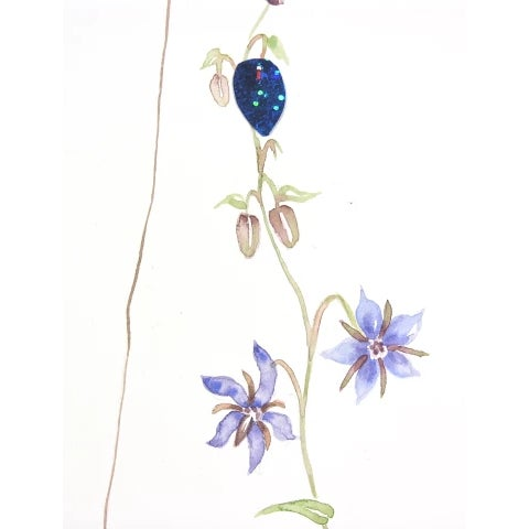 """Contemporary Marilla Palmer """"Fruit of the Blue Borage"""" Painting, 2018 For Sale - Image 3 of 6"""