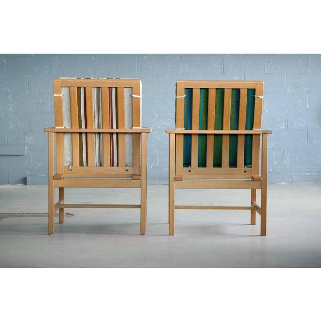 Pair of Børge Mogensen Model 2257, Oak Lounge Chair for Fredericia Stolefabrik For Sale In New York - Image 6 of 10
