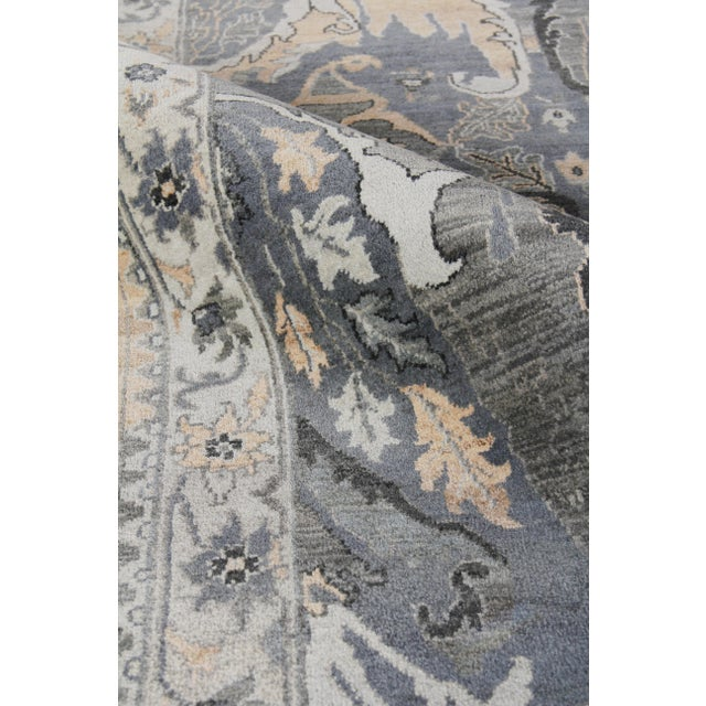Loch Hand knotted Wool Emerald Rug-12'x15' For Sale In Los Angeles - Image 6 of 8