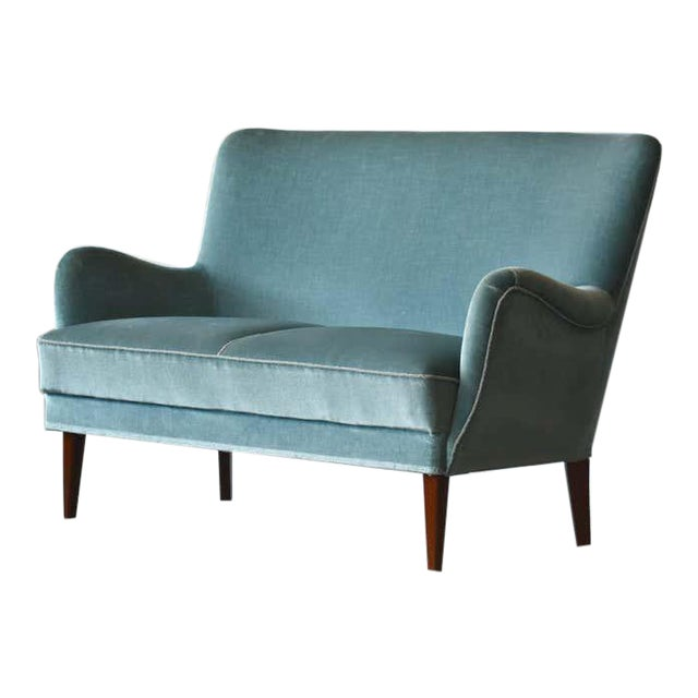 Classic Frits Henningsen Style Settee or Loveseat Danish Midcentury For Sale