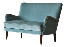 Image of Newly Made Turquoise Sofas