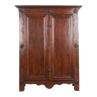 Late 18th Century French Louis XIII Style Two-Door Oak Armoire For Sale